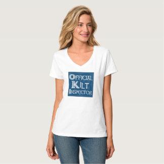 Camiseta Inspector do Kilt - azul celta