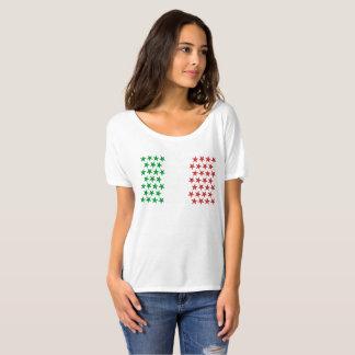 Camiseta Inspirado pela bandeira italiana. Edição das