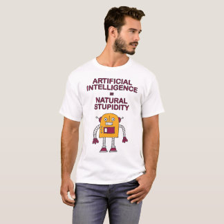 Camiseta Inteligência artificial = estupidez natural