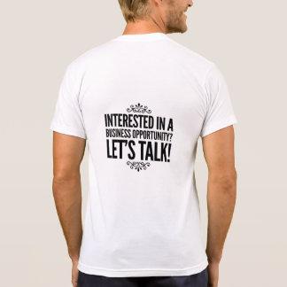 Camiseta Interessado em um t-shirt da oportunidade de