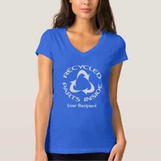 Camiseta Interior das peças do reciclado - com texto