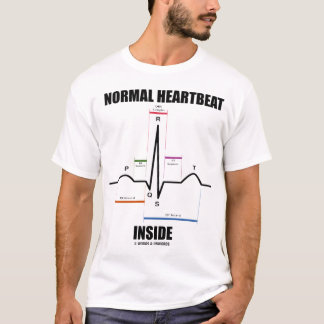 Camiseta Interior normal da pulsação do coração (EKG)
