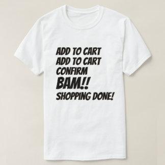 Camiseta Internet da compra do Natal do negócio de