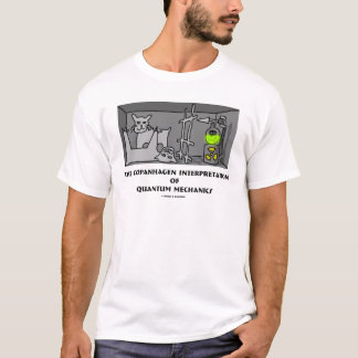 Camiseta Interpretação de Copanhagen de mecânicos de