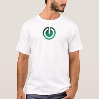 Camiseta Interruptor de alimentação de ligar/desligar à