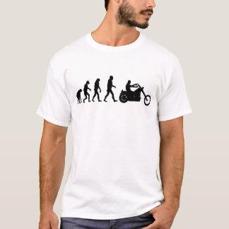 Camiseta Interruptor inversor da evolução do motociclista