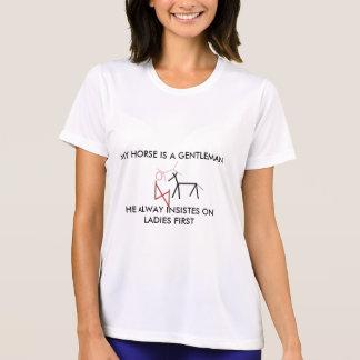 Camiseta Intitulado, MEU CAVALO É um CAVALHEIRO, ELE SEMPRE