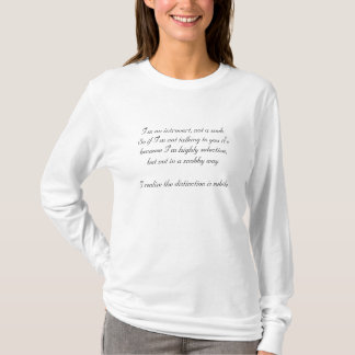 Camiseta Introvertido. Não um snobe