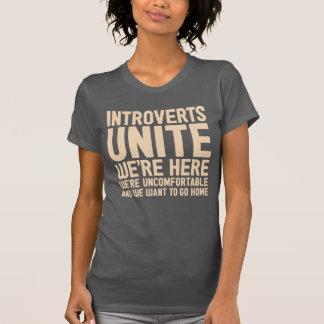 Camiseta INTROVERTS UNEM-NOS são aqui nós são incômodo…