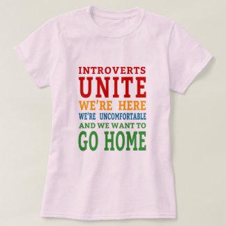 Camiseta Introverts unem-se - nós estamos aqui e queremos