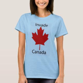 Camiseta Invasão dos azuis bebés de Canadá