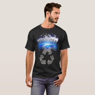 Camiseta Inverse global do reciclar