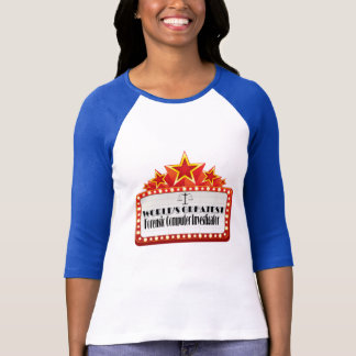 Camiseta Investigador judicial do computador do mundo o