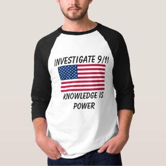 Camiseta Investigue 9/11 - Bandeira dos EUA - t-shirt do