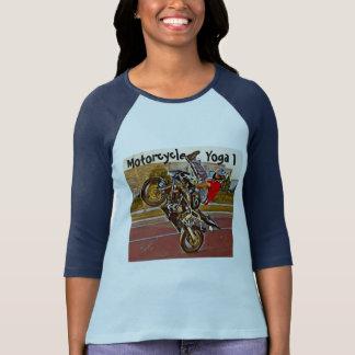 Camiseta Ioga da motocicleta 3/4 de t-shirt da luva