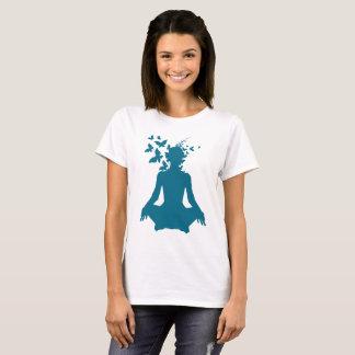Camiseta ioga, mente, meditação, paz, livre, feliz,