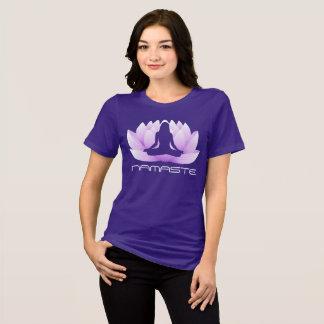Camiseta Ioga Namaste da pose de Lotus