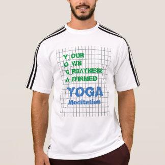 Camiseta IOGA seu próprio texto afirmado grandeza da