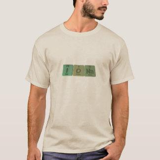 Camiseta Iona como o sódio do oxigênio do iodo