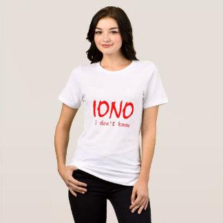 Camiseta IONO que eu não sei