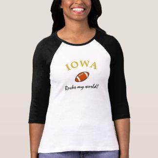 Camiseta Iowa balança o futebol