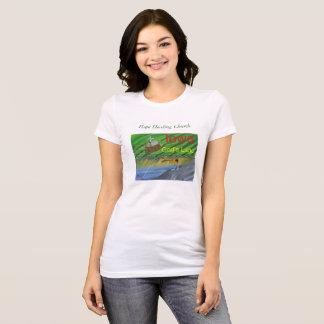 Camiseta Iowa que cultiva o t-shirt cristão da cena da