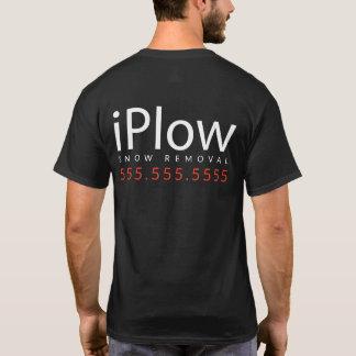 Camiseta iPlow. Eu aro a neve. Promocional Merch da remoção