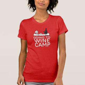 Camiseta Ir Wine acampamento - canoa