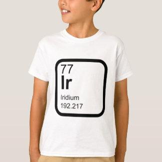Camiseta Irídio - design da ciência da mesa periódica