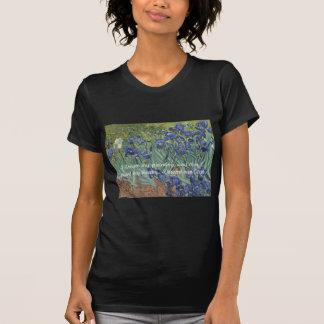 Camiseta Íris de Vincent van Gogh & citações do sonho
