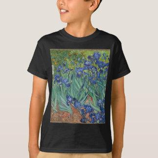Camiseta Íris de Vincent van Gogh que pintam o trabalho de