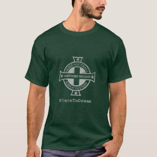 Camiseta Irlanda do Norte afligiu o T da crista do futebol