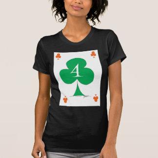 Camiseta Irlandês afortunado 4 dos clubes, fernandes tony