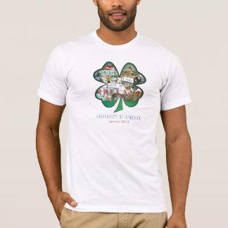 Camiseta Irlandês americano do roupa eu estava para trás no