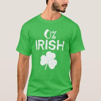 Camiseta Irlandês de 0% - Dia de São Patrício engraçado