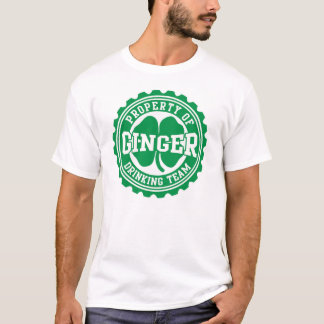 Camiseta Irlandês do boné de garrafa da equipe do bebendo