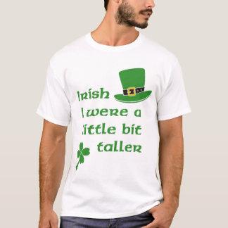 Camiseta Irlandês eu era um Dia de São Patrício um pouco