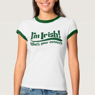 Camiseta irlandês im o que é sua desculpa
