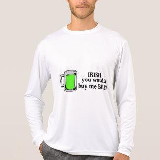 Camiseta Irlandês você comprar-me-ia cerveja cerveja verde