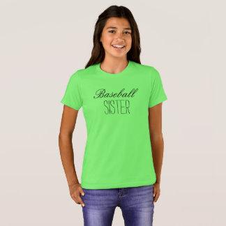 Camiseta Irmã do basebol