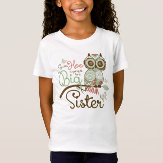 Camiseta Irmã mais velha a ser coruja