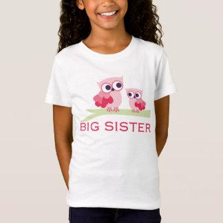 Camiseta Irmã mais velha adorável da coruja