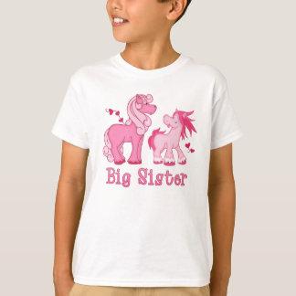 Camiseta Irmã mais velha cor-de-rosa de Ponys