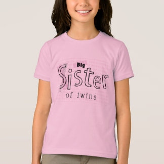 Camiseta Irmã mais velha dos gêmeos