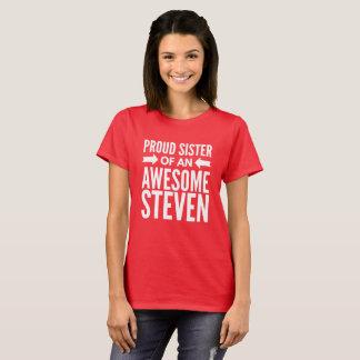 Camiseta Irmã orgulhosa de um Steven impressionante