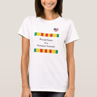 Camiseta Irmã orgulhosa de um t-shirt do veterano de