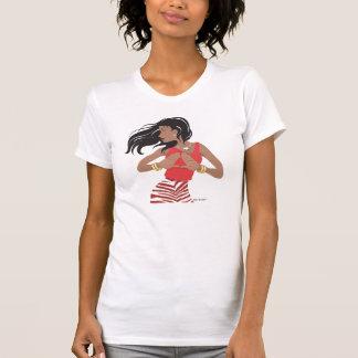 Camiseta Irmandade vermelha & branca do círculo estudantil
