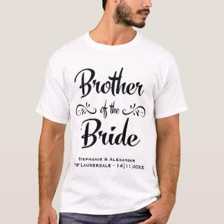 Camiseta Irmão do jantar de ensaio engraçado da noiva
