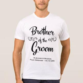 Camiseta Irmão do jantar de ensaio engraçado do noivo