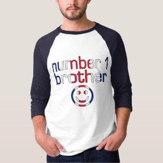 Camiseta Irmão do número 1 (o aniversário do irmão)